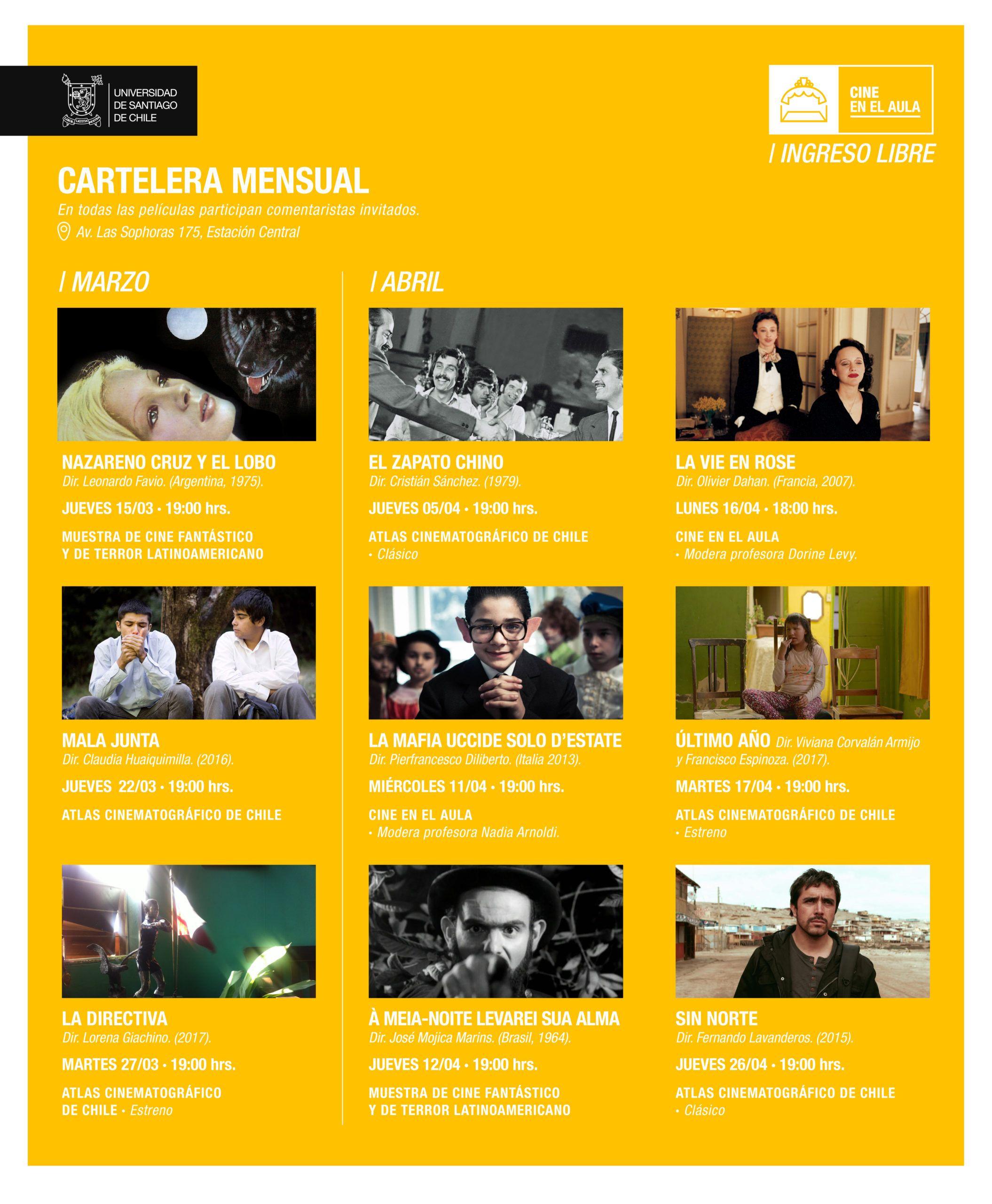 Atlas Cinematográfico de Chile y la Muestra de Cine Fantástico y de Terror vuelven a Sala Estación