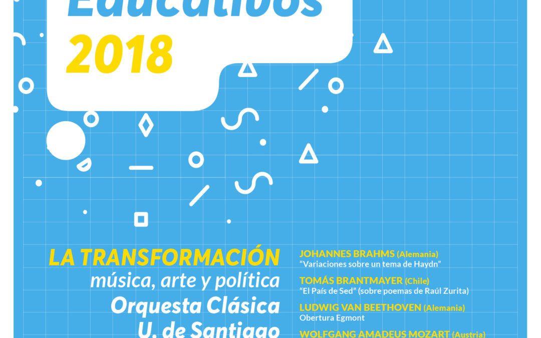 "CONCIERTOS EDUCATIVOS 2018 ""L a T r a n s f o r m a c i ó n"" Música, arte y política"