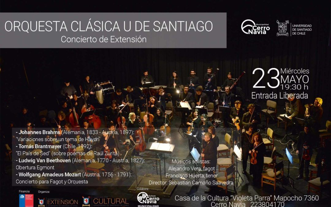 Orquesta Clásica U. de Santiago en Cerro Navia