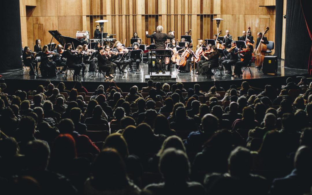 Debut de la Orquesta Clásica U. de Santiago en Teatro Oriente