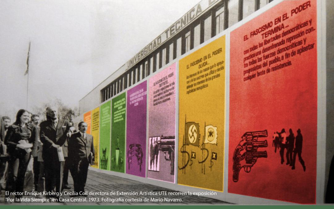 """Mapping  """"Luces de la Memoria"""" – Casa Central U. de Santiago"""