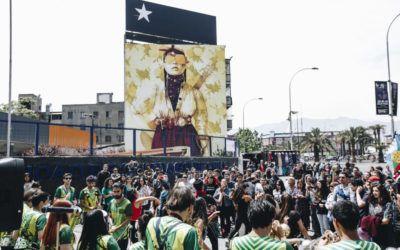 """U. de Santiago inaugura el mural """"Primavera Insurrecta"""" de Inti Castro con un emocionante encuentro cultural en la vía pública"""
