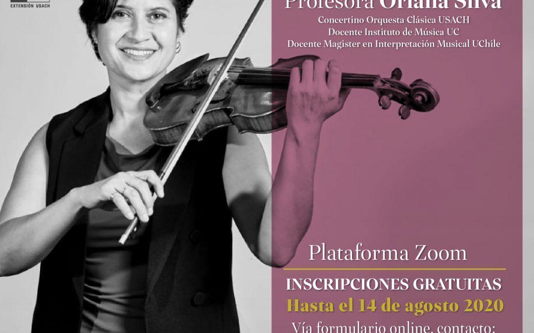 Concertino Usach imparte clases online de violín