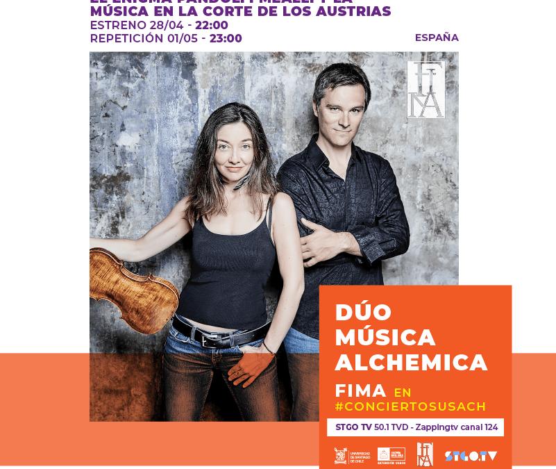 FIMA en Stgo TV: Dúo Música Alchemica